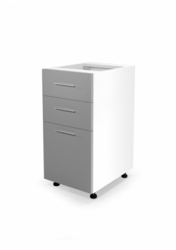 Halmar VENTO DS3-40/82 lower cabinet with drawers, color: white / light grey